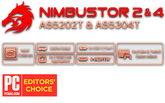 Asustor 華芸 NAS banner icon Storage ispirato al Gaming