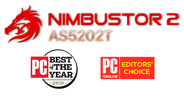 "Asustor 華芸 NAS banner icon ""The Best Tech producten van 2019"""